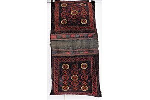 Vintage Hand Knotted Persian Rug Converted to Saddle Bags