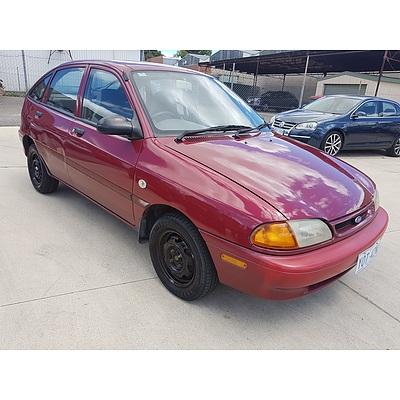 10/1996 Ford Festiva GLi WB 5d Hatchback Red 1.3L