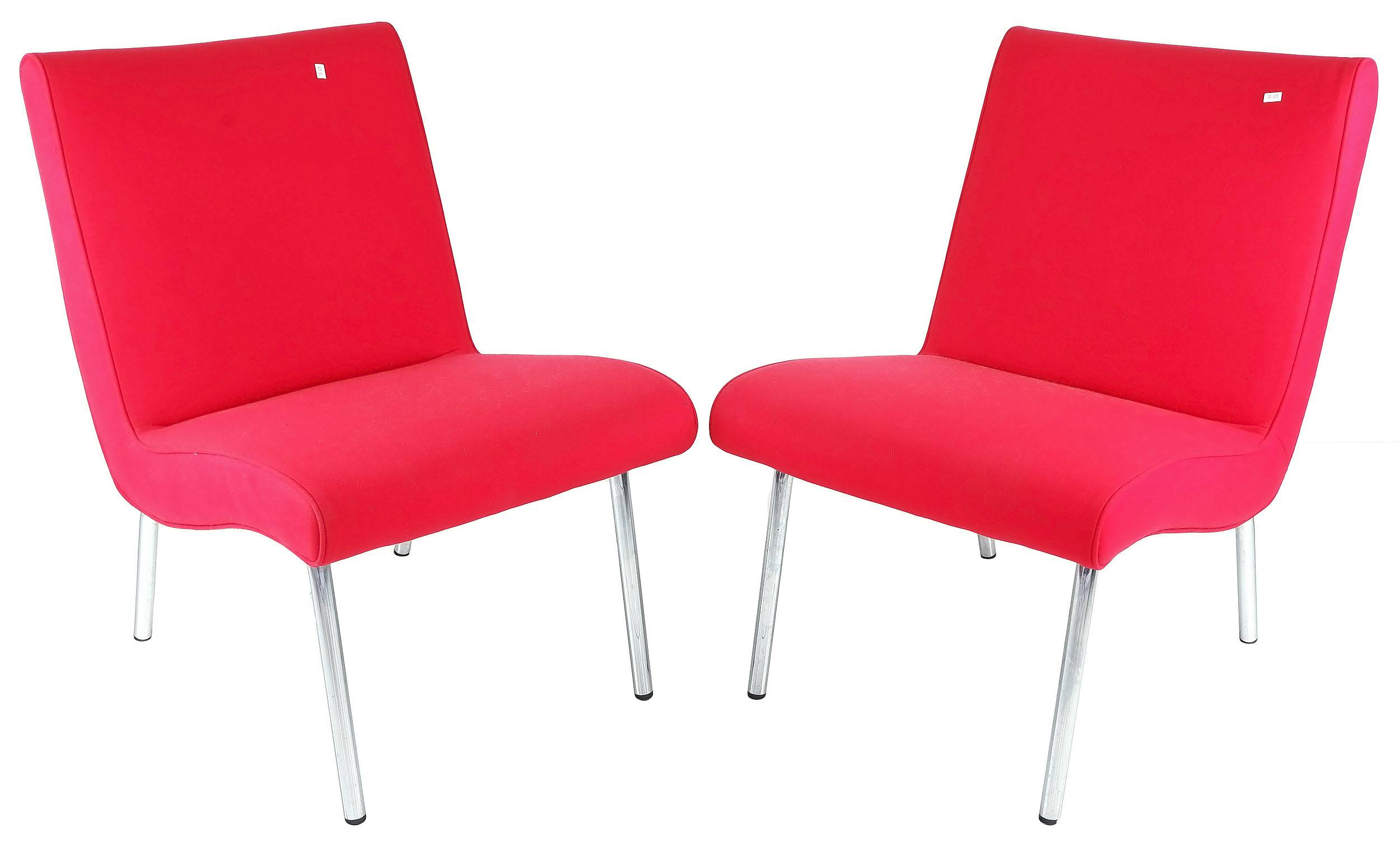 'Pair of Retro Knoll Chairs Designed by Jens Risom'