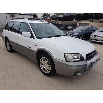 7/2001 Subaru Outback H6 MY01 4d Wagon White 3.0L