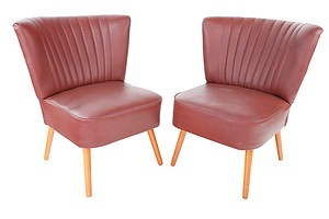 Pair of Cocktail Chairs - by Repute as Exhibited in the 1958 Belgium World Expo