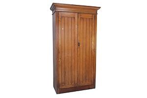 Edwardian Kauri Pine Two Door Wardrobe With Internal Blanket Drawer