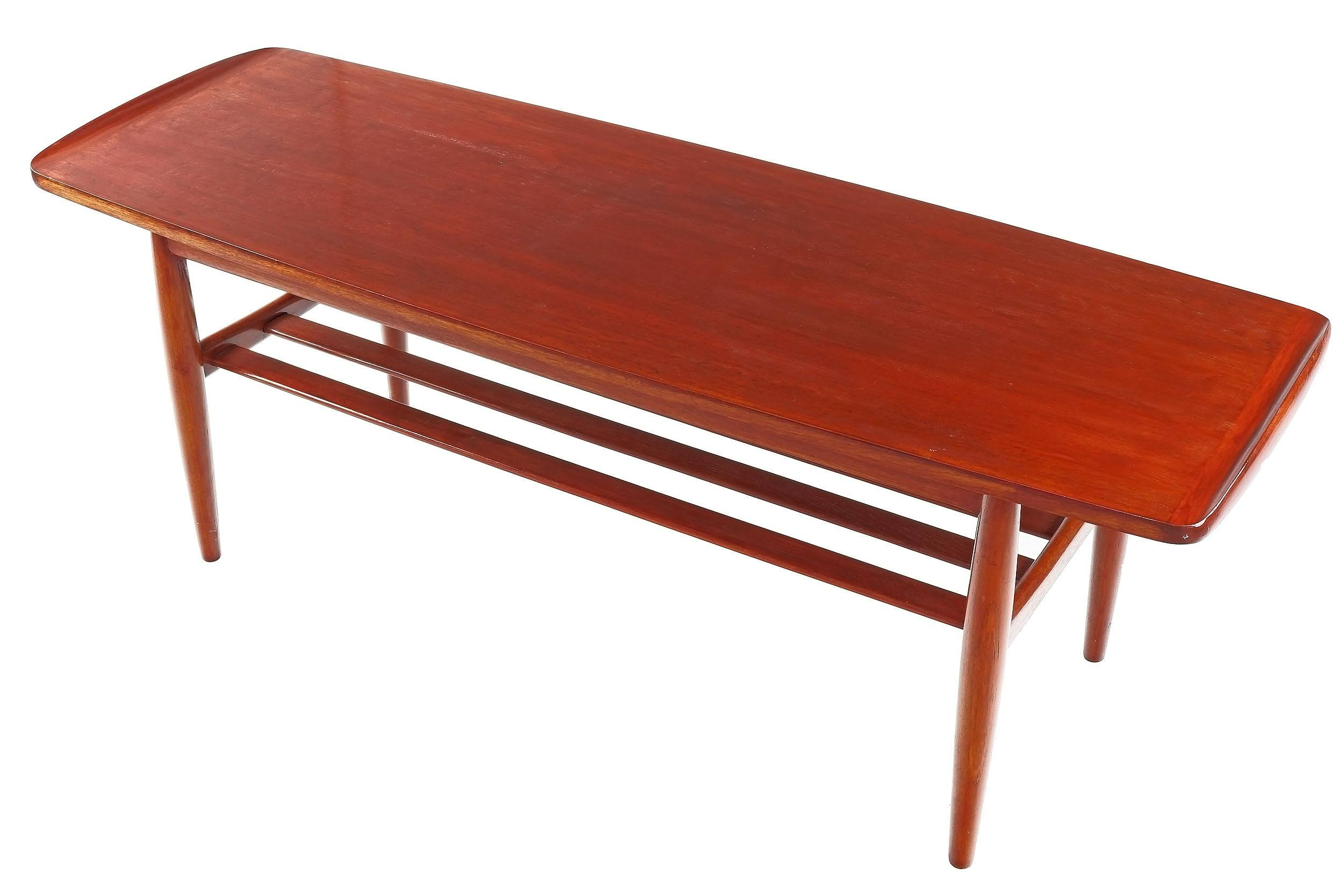 'Retro Teak Coffee Table with Magazine Shelf Below'