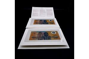 Two Consecutively Numbered 1988 Australian Bicentennial Commemorative $10 Notes, AA15057452 and AA15057453