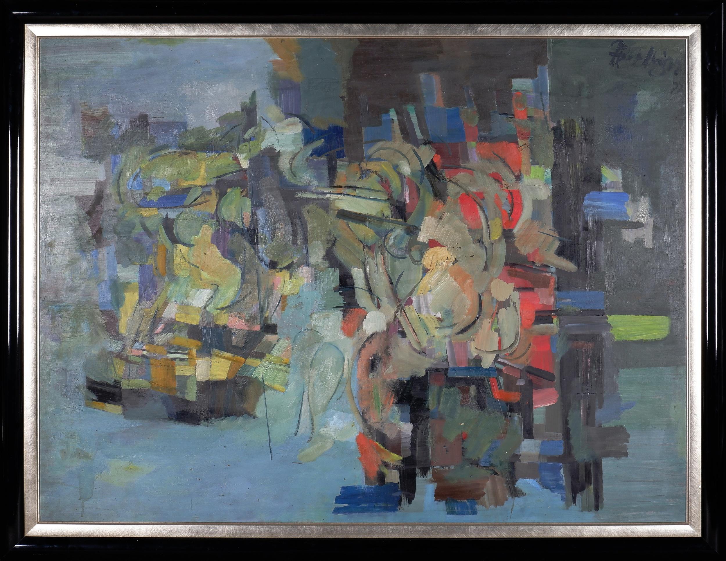 'Paul Haefliger (1914-1982), Figure Study 1971, Oil on Board'