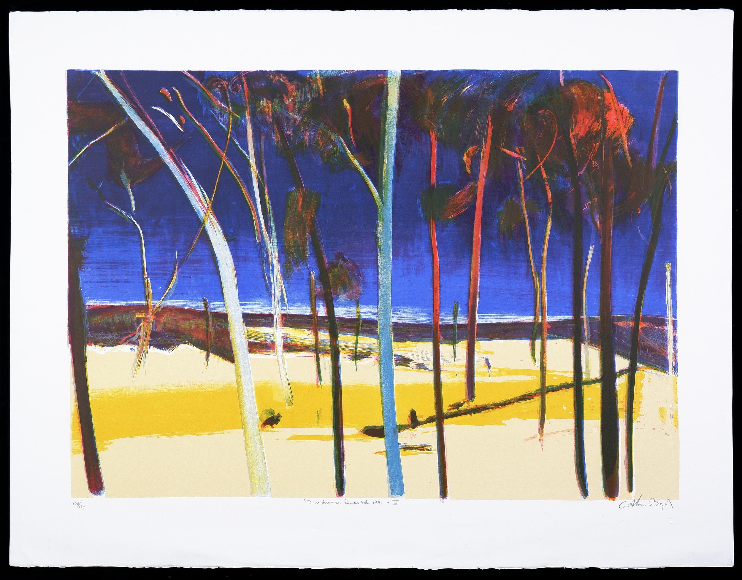 'Arthur Boyd (1920-1999), Bundanon Quartet IV 1991, Lithograph, 49 x 70 cm (image size)'