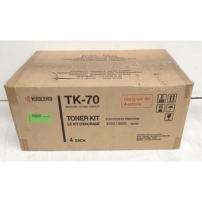 Kyocera TK-70 Toner Cartridges - Lot of Four