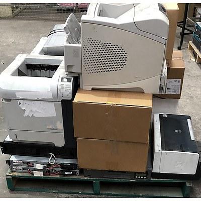 Bulk Lot of Assorted IT Equipment - Projectors, Printers, UPS, Etc.