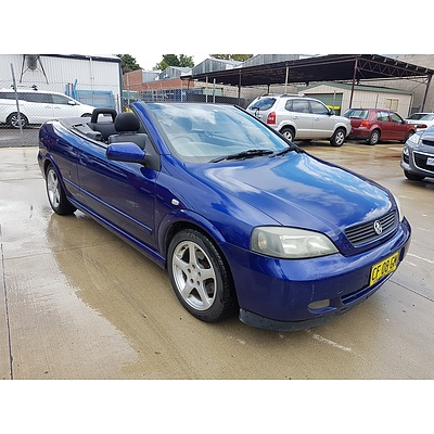 9/2005 Holden Astra Convertible TS 2d Convertible Blue 2.2L