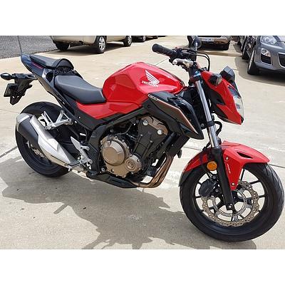 1/2017 Honda CB500F 471cc Motor Cycle