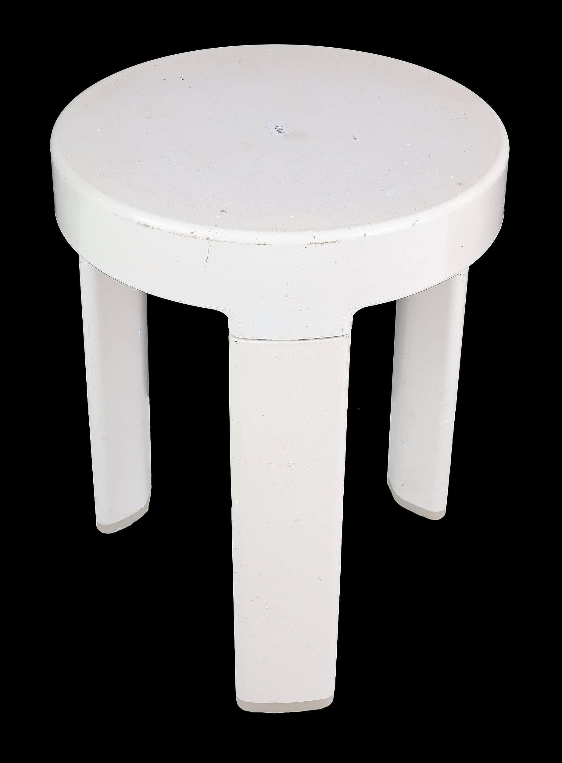 'Retro Pedigree Trivette by Royal Doulton Moulded Plastic Stool Circa 1980s'