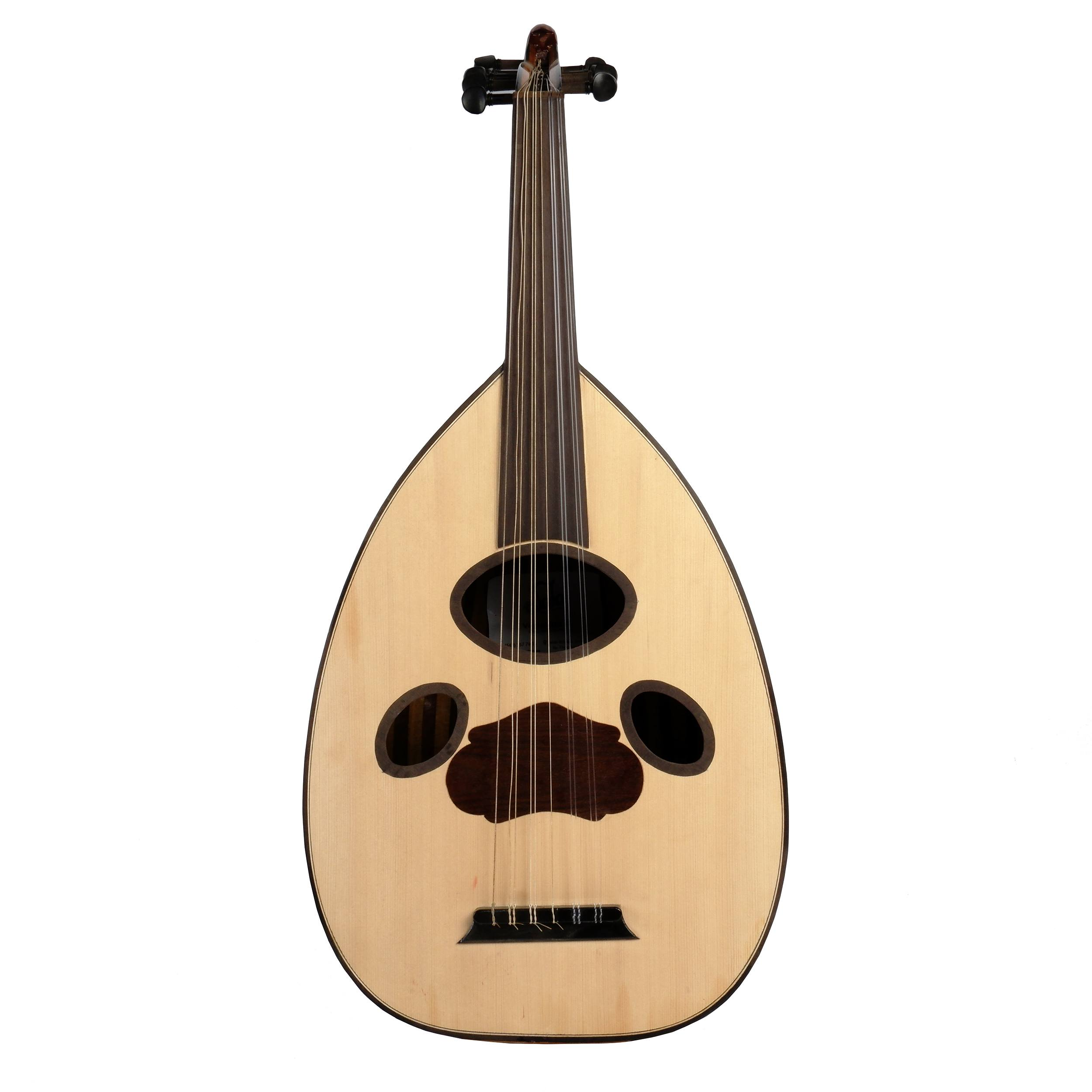 'Vintage Hand Crafted Middle Eastern Eleven String Oud'
