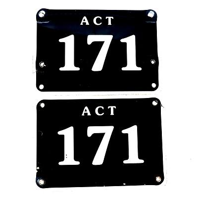 ACT Number Plate 171