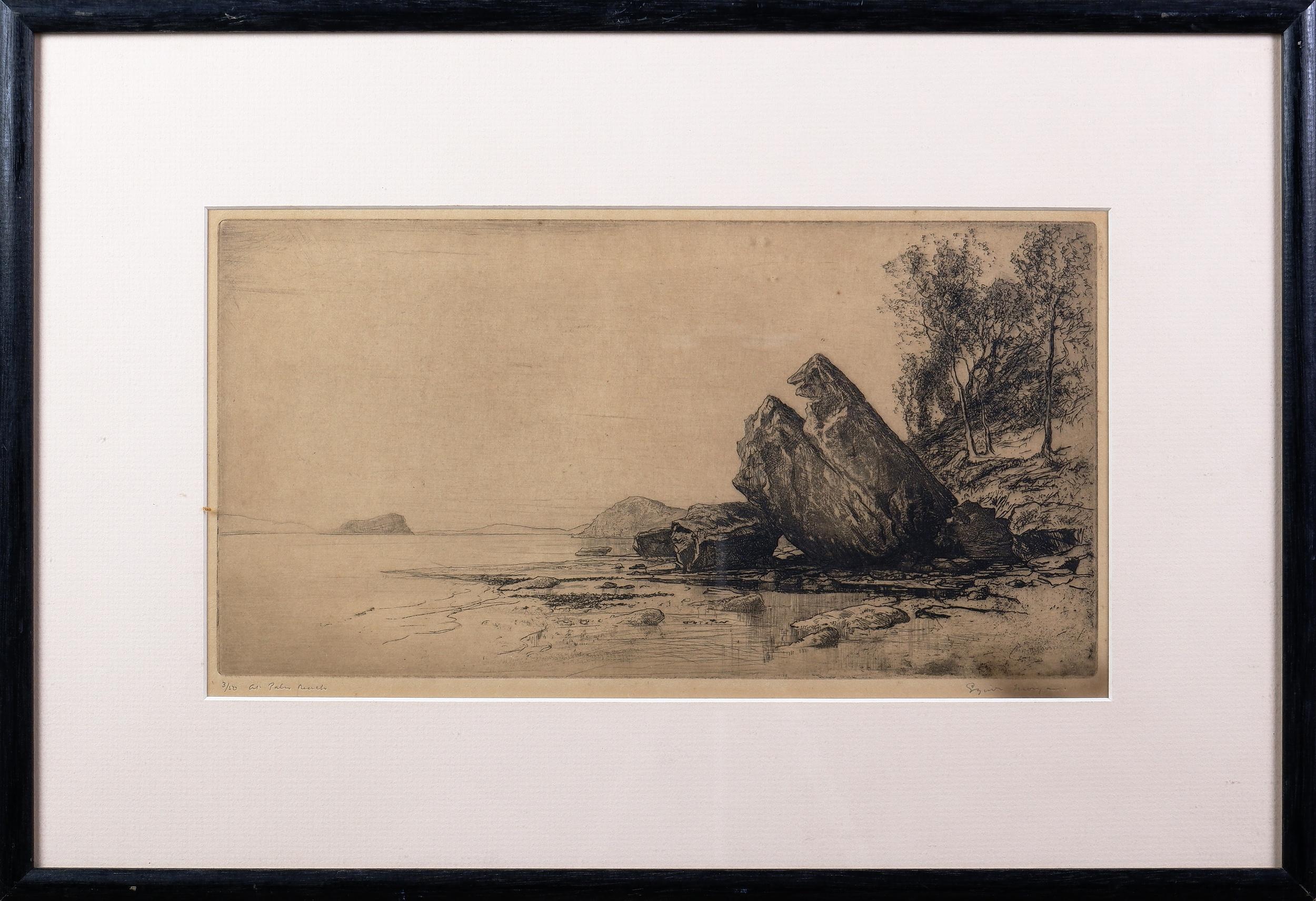 'Sydney Long (1871-1955), At Palm Beach, Etching'