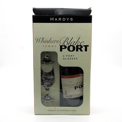 Hardys Whiskers Blake Tawny Port in Presentation Box with Two Glasses
