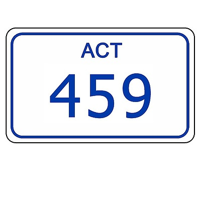 ACT Number Plate 459