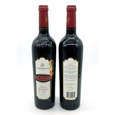 Cranswick Estate Cocoparra Vineyard 2000 Merlot - Lot of Two Bottles (2)