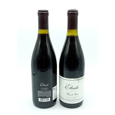 Etude 2009 Estate Grown Pinot Noir (Napa Valley California) - Lot of Two Bottles (2)