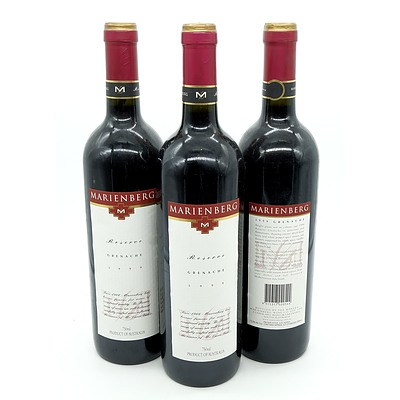 Marienberg Reserve 1999 Grenache - Lot of Three Bottles (3)