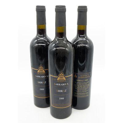 Austins Barrabool 1999 Shiraz - Lot of Three Bottles (3)