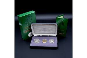 RAM 2001 Centenary of Federation, Territory Proof Three Coin Set, Norfolk Island
