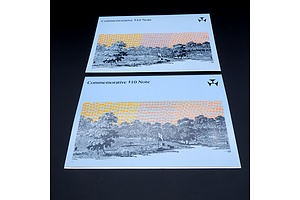 Two 1988 Australian Bicentennial Commemorative $10 Notes, AA08104582 and AA18095298