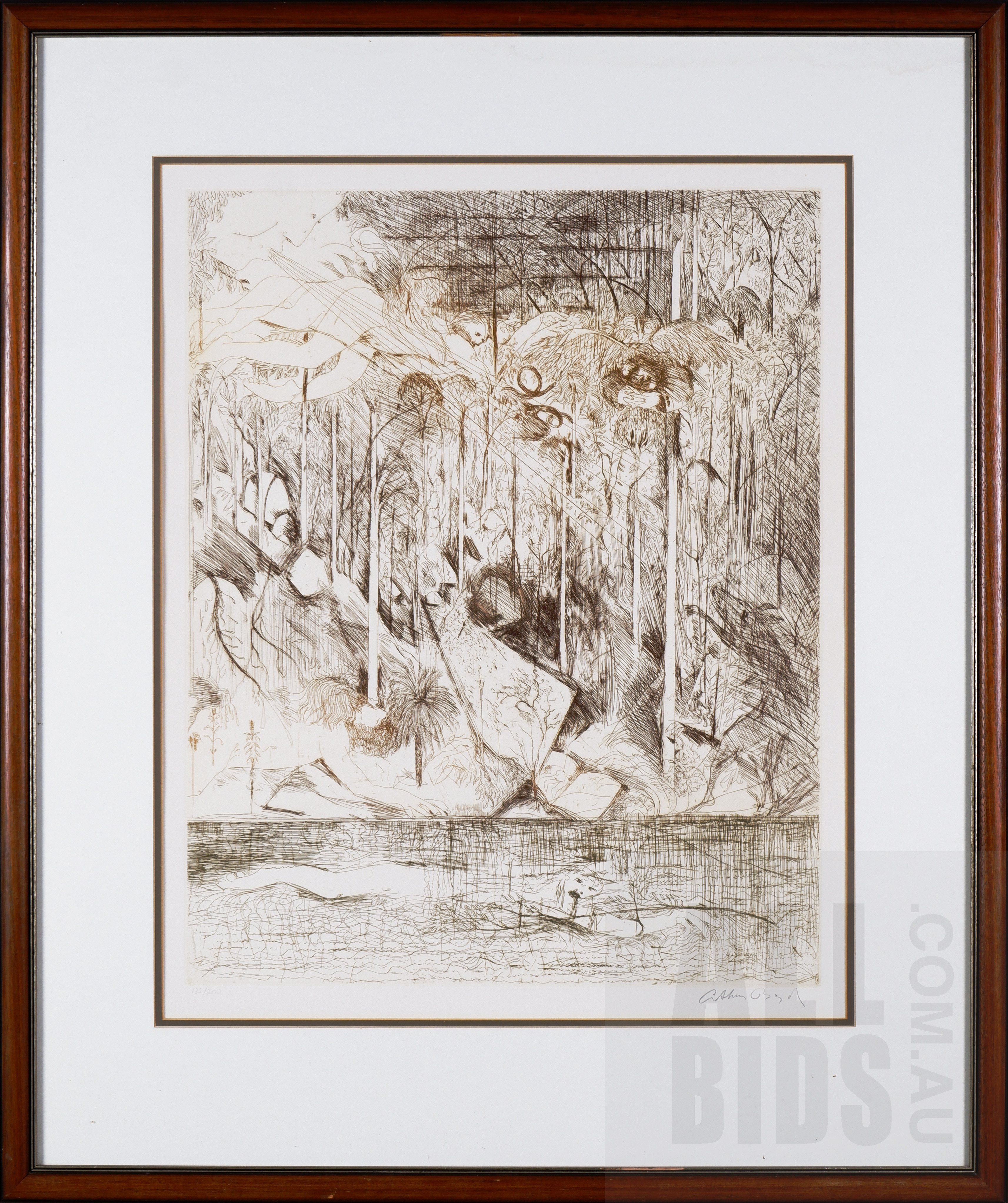 'Arthur Boyd (1920-1999), Rockpool Spirits & Wind, Shoalhaven, Etching, 64 x 51 cm (image size)'