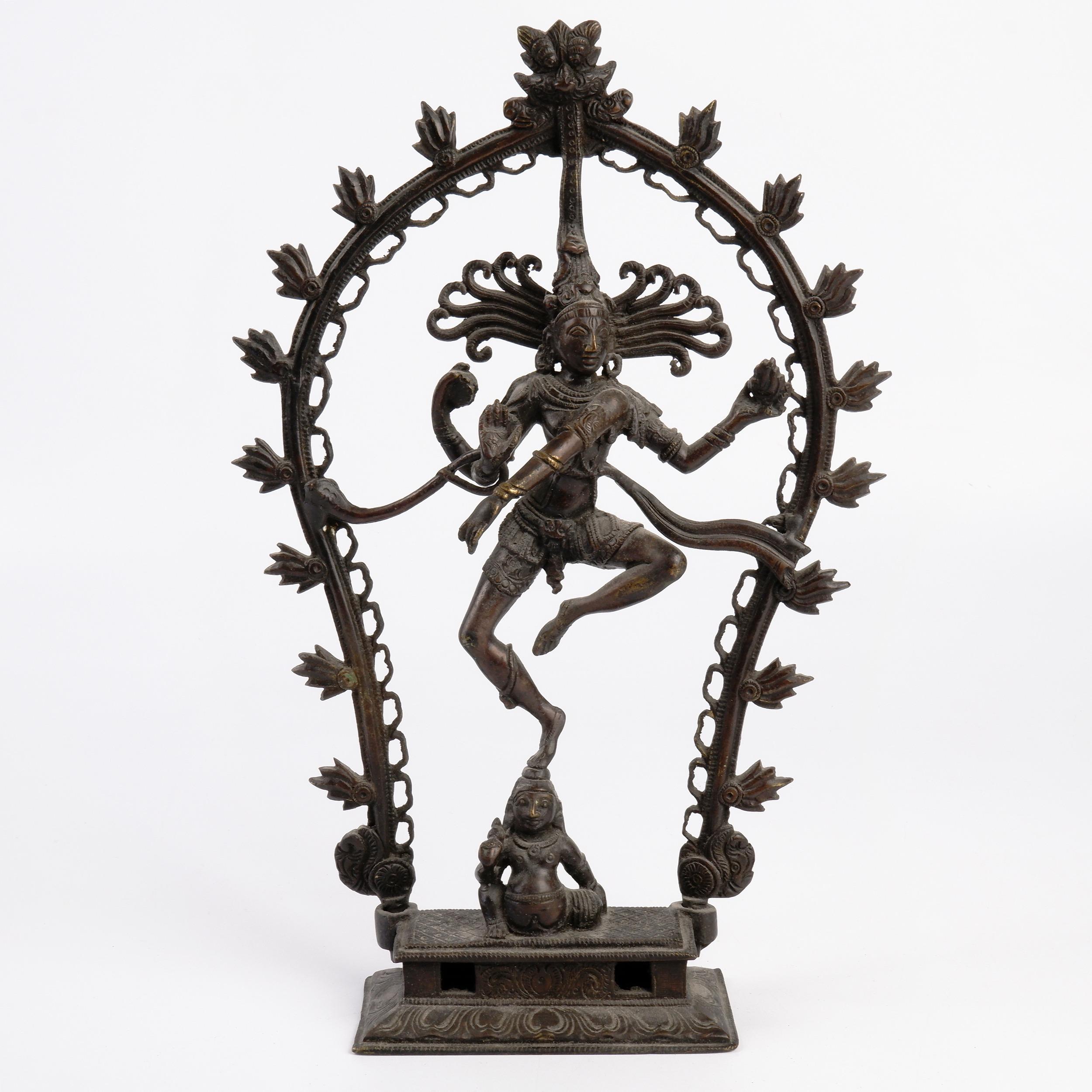 'Indian Cast Bronze Figure of Shiva Nataraja, Lord of the Dance'