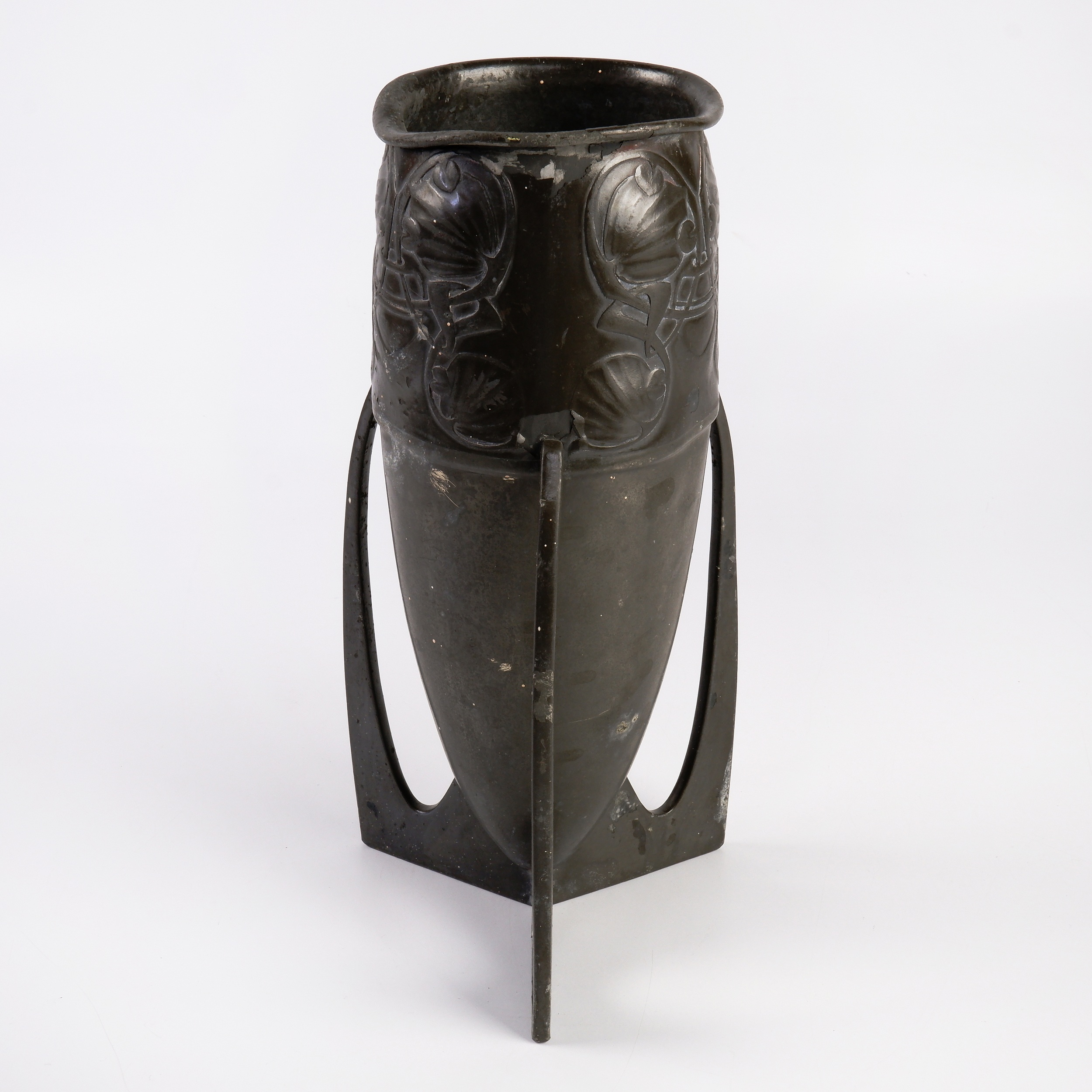 'Liberty & Co Tudric Pewter Bullet Vase Designed by Archibald Knox Circa 1910'