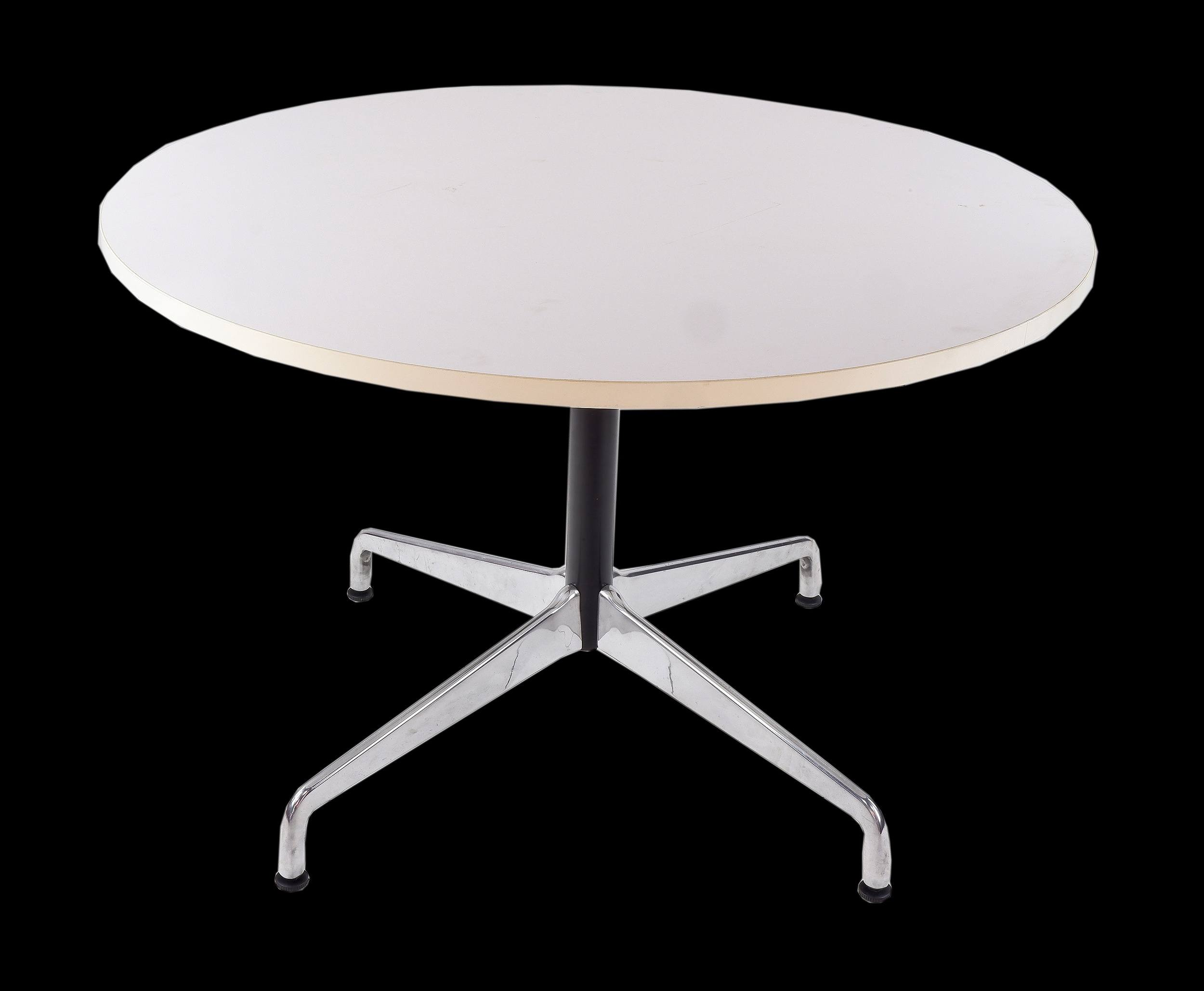 'Eames Style Circular Dining Table'