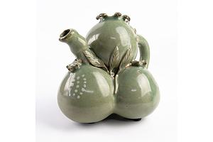 Korean Celadon Pomegranate Shape Ewer, 20th Century or Earlier