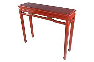 Chinese Red Lacquer Altar Table, 20th Century
