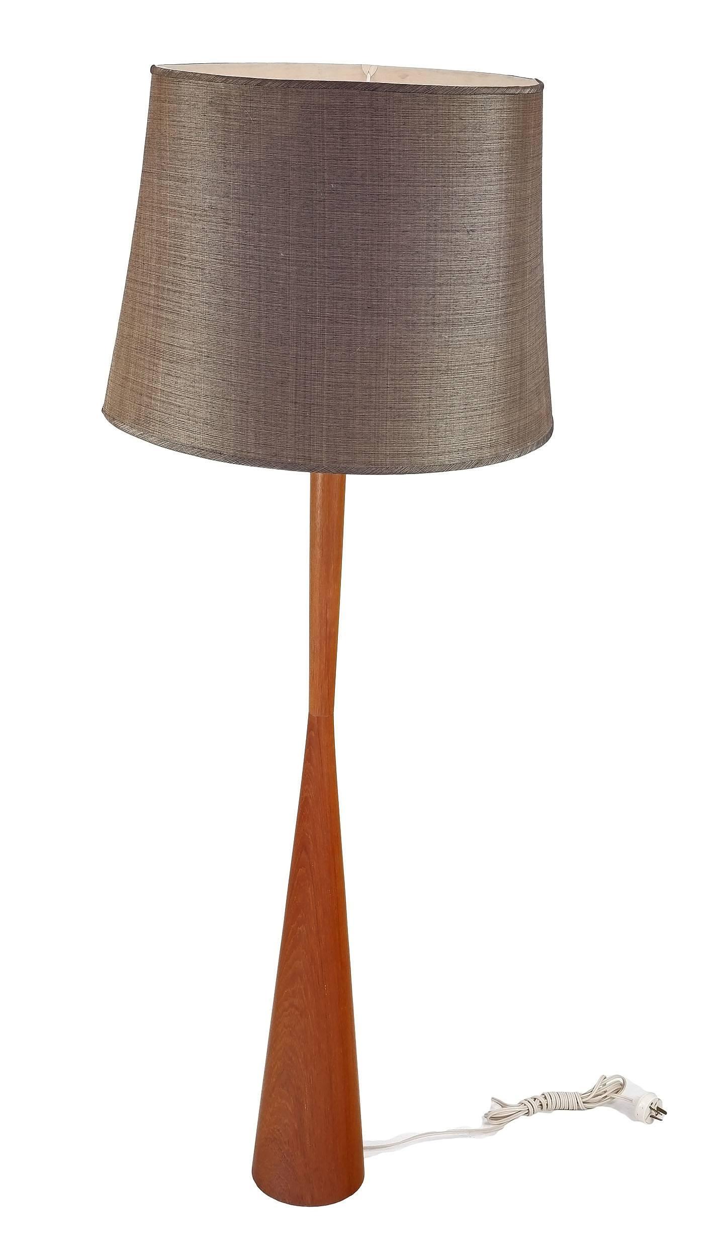 'Parker Knoll Hourglass Teak Floor Lamp'
