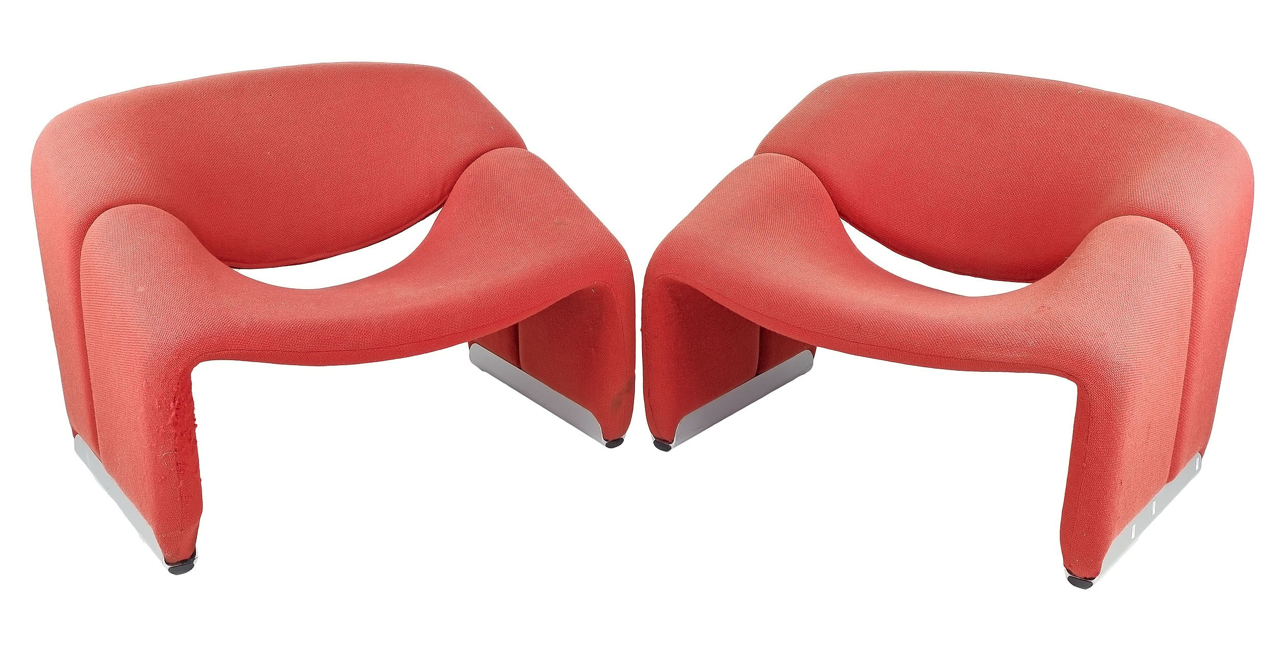 'Pair of Pierre Paulin F598 Lounge Chairs for Artifort, Circa 1980s'