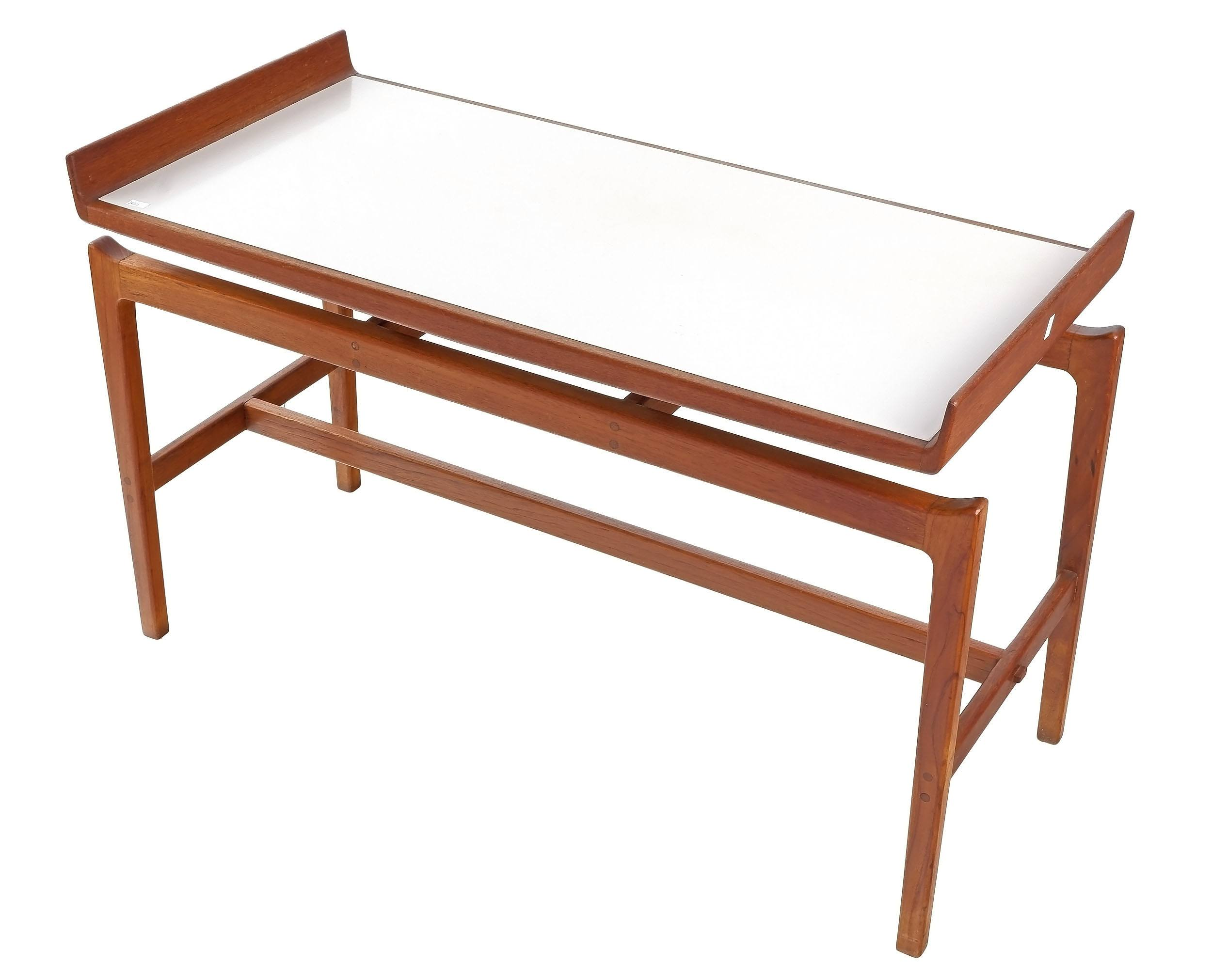 'Bespoke Teak Coffee Table with Floating Formica Top'