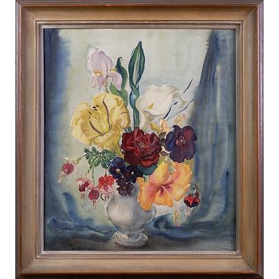 Margaret Coen (1913-1993), Untitled (Still-Life) Watercolour on Silk, 48 x 42 cm