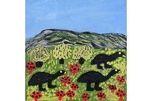Dora Wari, Emu Country 2005, Acrylic on Canvas