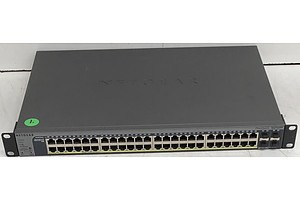 Netgear (GS752TP V1H1) ProSafe 48-Port Gigabit Smart Switch w/ PoE & 4 SFP Ports