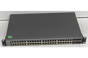 Netgear (GS752TPSB V1H1) ProSafe 48-Port Gigabit Stackable Smart Switch w/ PoE & 4 SFP Uplinks