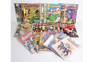 Quantity Approximately 60 Marvel Comics Including Nth Man Numbers 1-16, The Punisher, Wolverine Saga 1-4, 14 x Excalibur, Morbius 1-15 and More