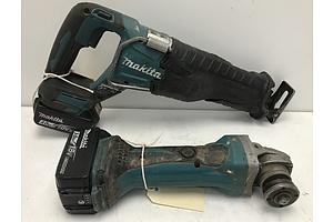 Makita 18V Angle Grinder and Reciprocating Saw