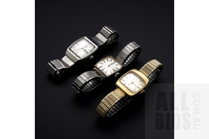 Three Vintage Ladies Seiko Wrist Watches, Including Automatic 17 Jewel Hi Beat, Matic Lady 21 Jewel and Another