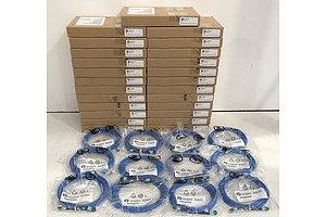 HPE 10m Multimode Premier Flex MPO/MPO M/M OM4 12F (QK729A / 656464-001) Fibre Optic Cables - Lot of 37 *Brand New