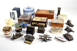 Collection of Jewellery Boxes and Novelty Sharpeners