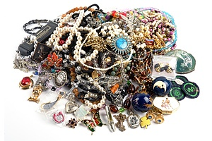 Large Collection of Costume Jewellery, Including Faux Pearl and Bead wood Necklaces and More