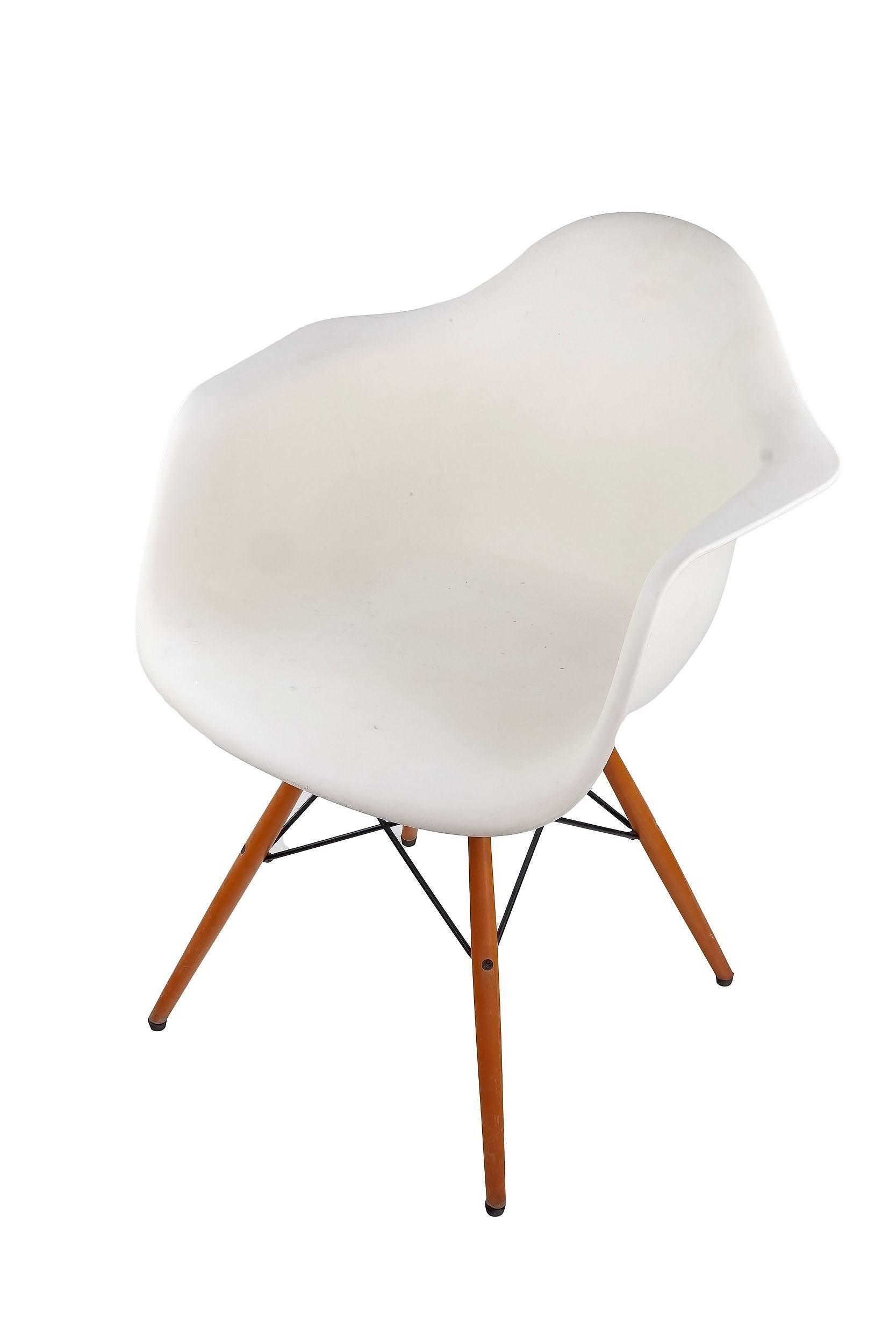 'Vitra Moulded Plastic Armchair, Designed by Charles and Ray Eames'
