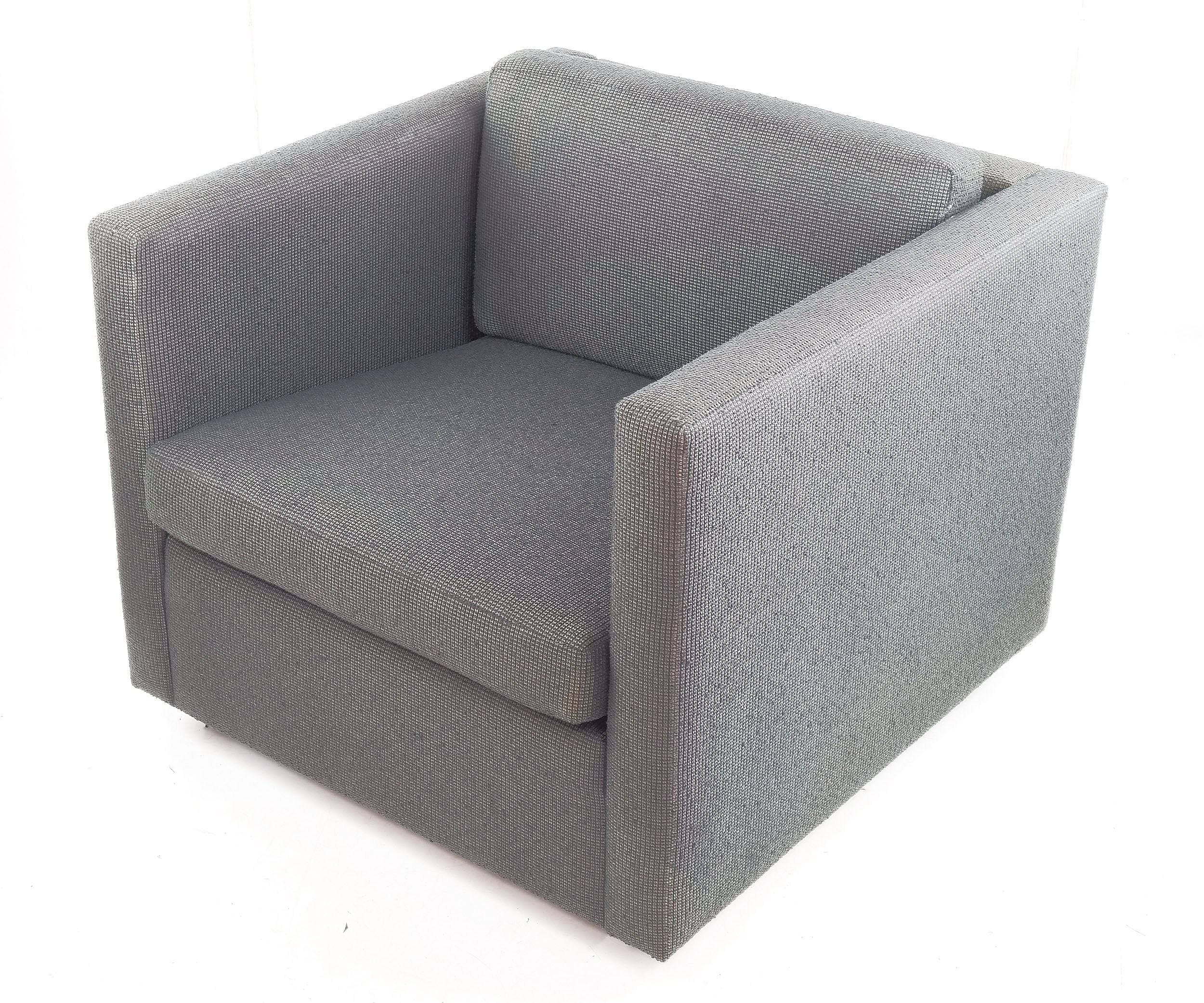 'Walter Knoll Cube Lounge Chair, Designed by Charles Pfister'