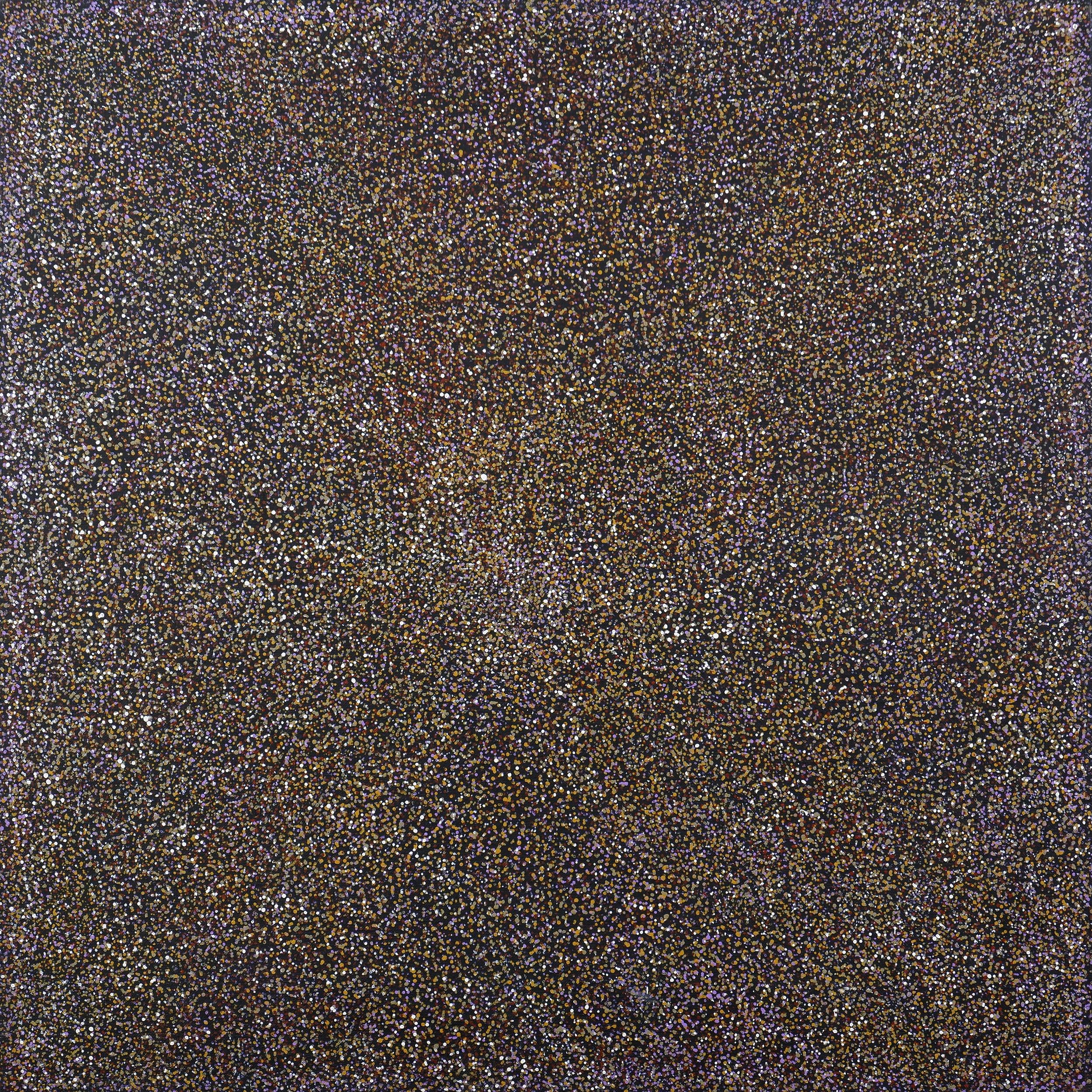 'Margaret Loy Pula (born 1956, Anmatyerre language group), Bush Potato, Acrylic on Canvas'
