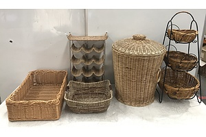 Cane Baskets -Lot Of Four