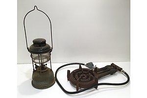 TILLEY Model X246 Vintage Paraffin Oil Lantern Lamp And Portable Gasmate burner - Lot Of Two